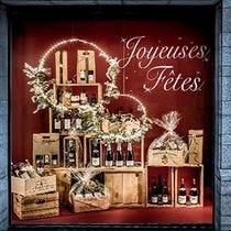 Kit vitrine Noël Couronne lumineuse