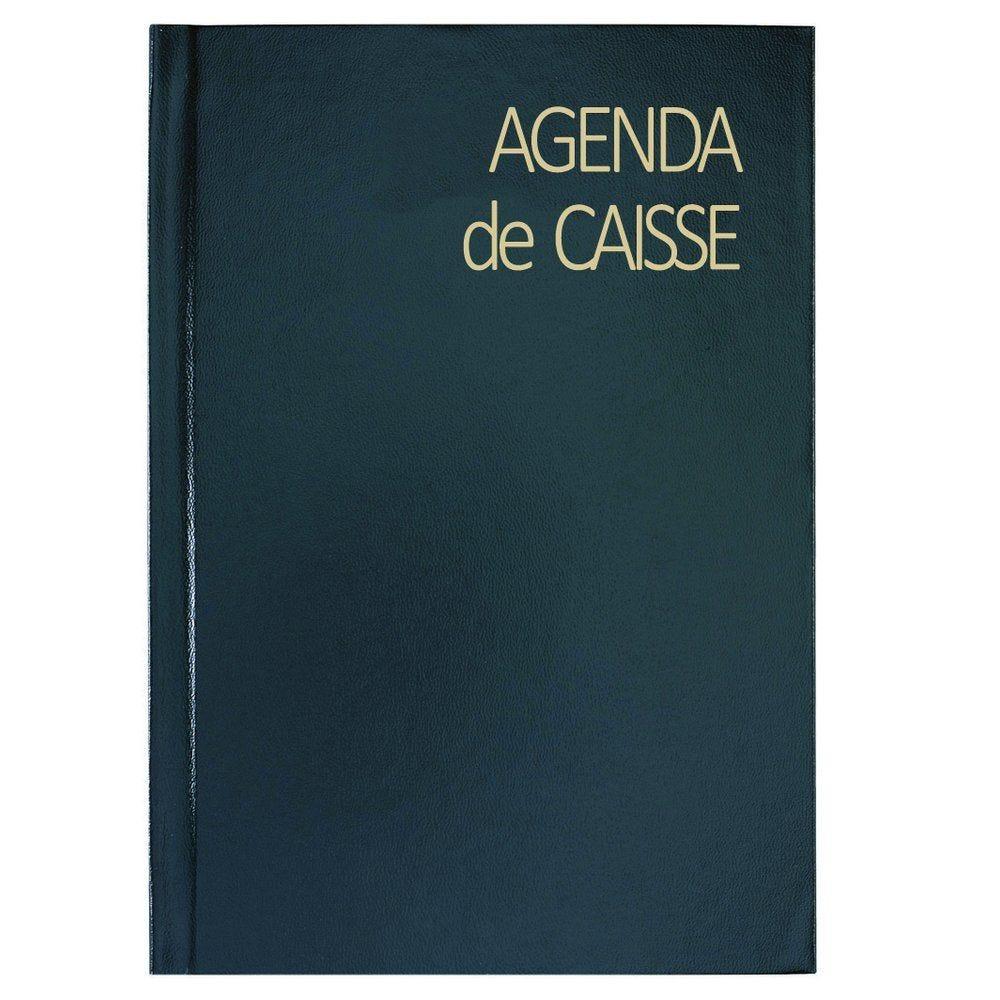 Agenda de bureau caisse perpétuel journalier noir 14 x 22 cm (photo)