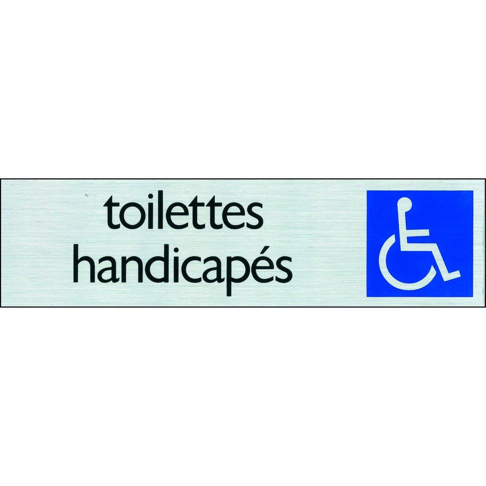 Affichage TOILETTES HANDICAPÉS Pickup alu (photo)