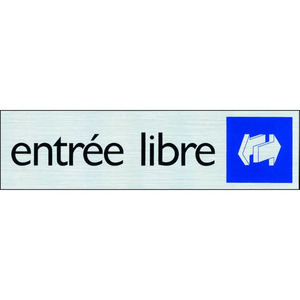 Affichage ENTRÉE LIBRE Pickup alu (photo)