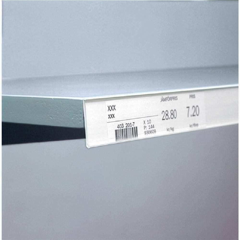 Porte étiquette adhésif blanc 1000x18mm