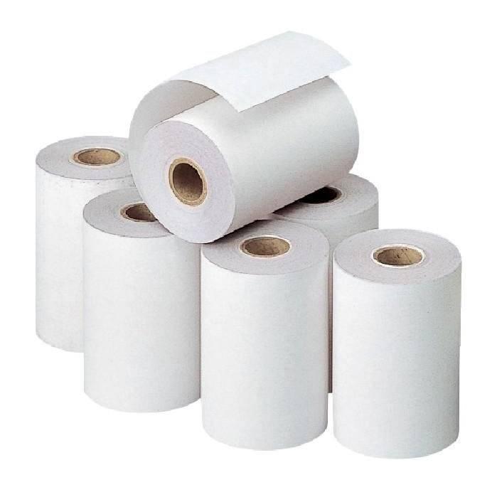 Bobine papier thermique 80 x Ø 80 x Ø 12 mm - par 20 (photo)