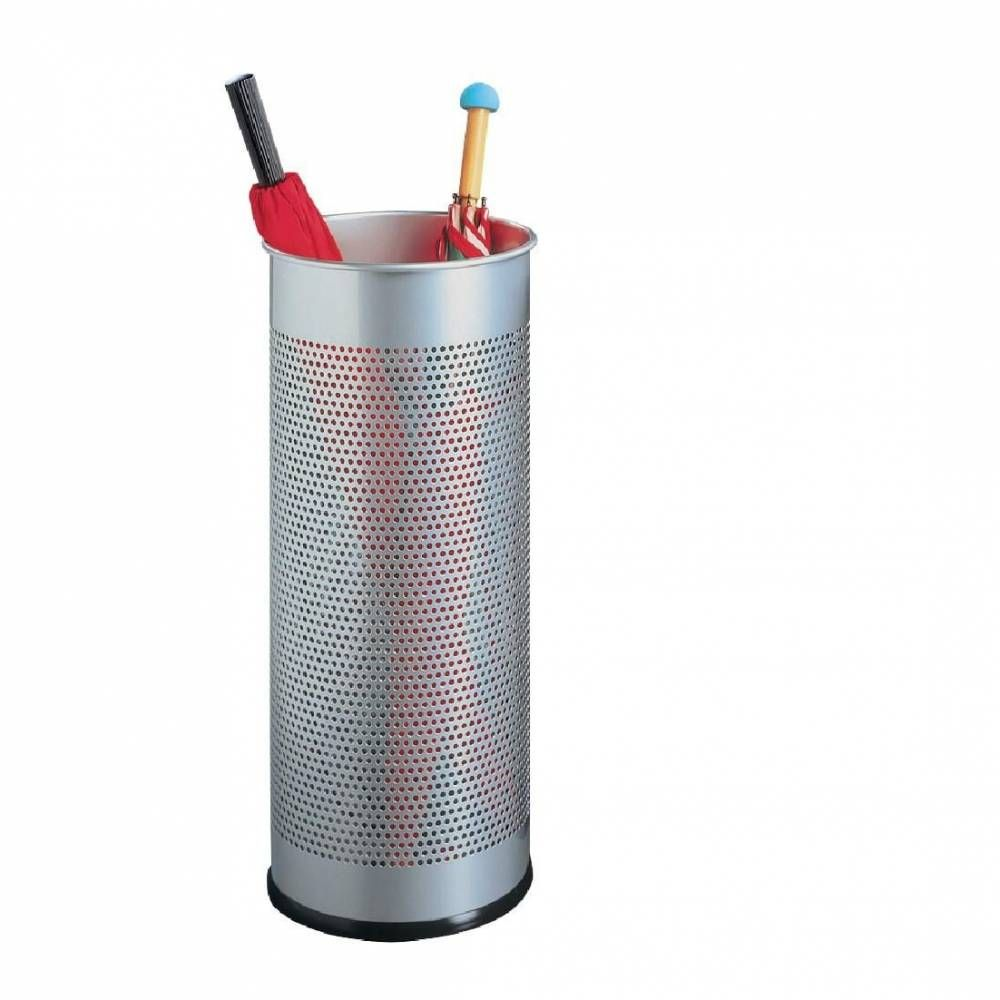 Porte-parapluie métal argenté (photo)
