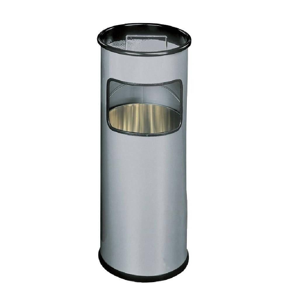 Corbeille papier + cendrier H 62 cm x diam 26 cm (photo)