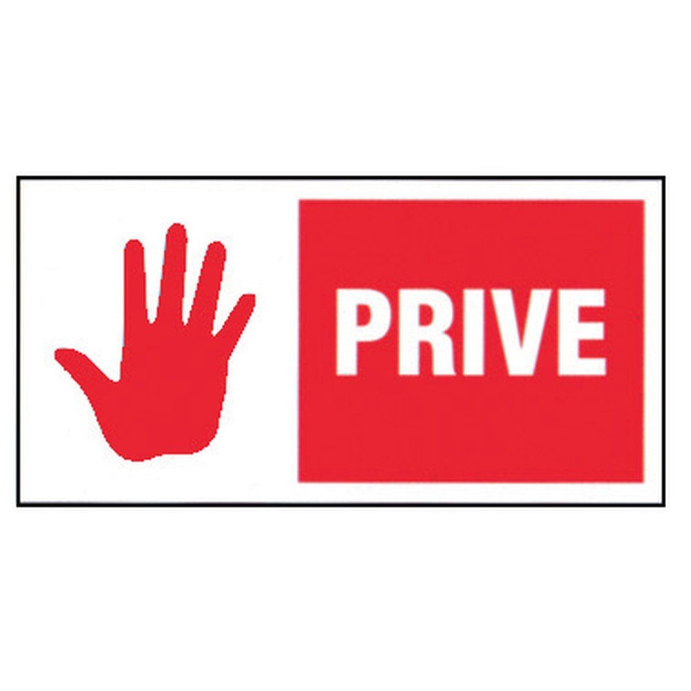 Plaque Privé + logo (photo)