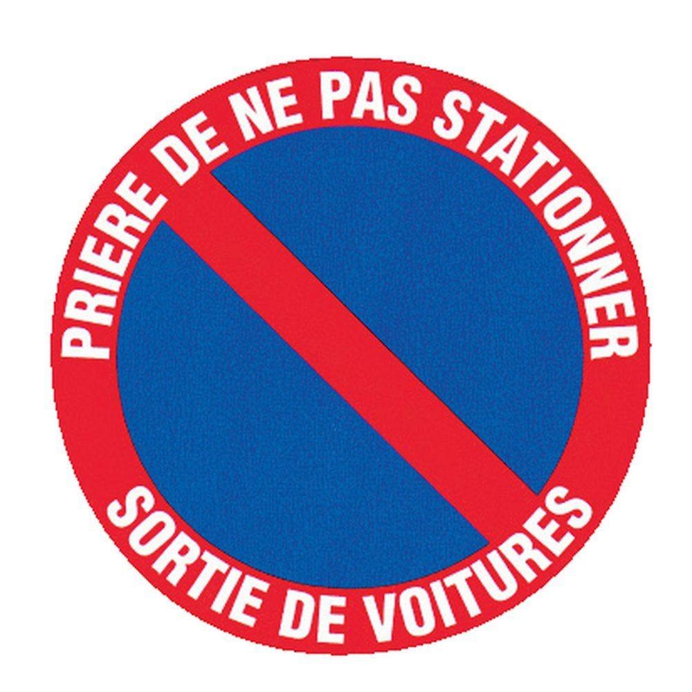 Pictogramme Prière de ne pas stationner sortie plaque rigide (photo)