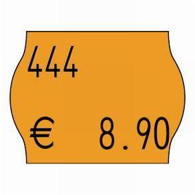 Etiquette meto format 22 x 16 mm - fluo orange standard