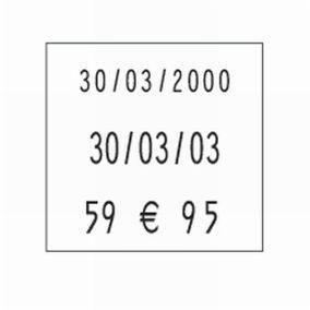 Etiquette fluo rouge orange - 29 x 28 cm - Par 3500
