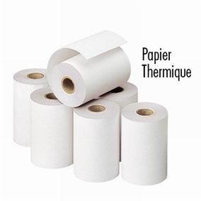 Bobine papier thermique 57 x Ø 63 x Ø 12 mm - par 5 (photo)