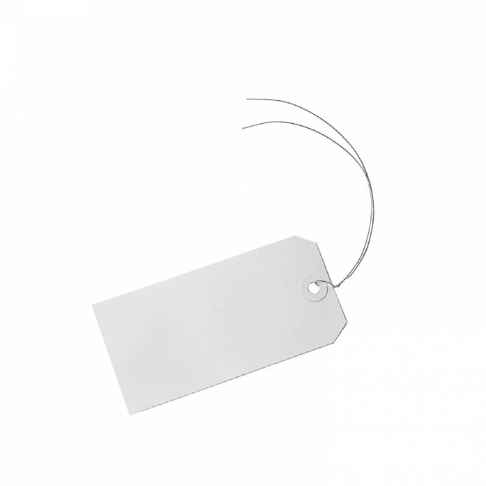 Etiquette américaine avec fil de fer x 250 (photo)