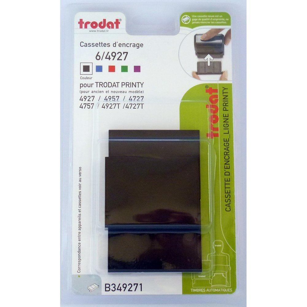Cassette encrage noir pour tampon Trodat Printy Réf.3822 (photo)