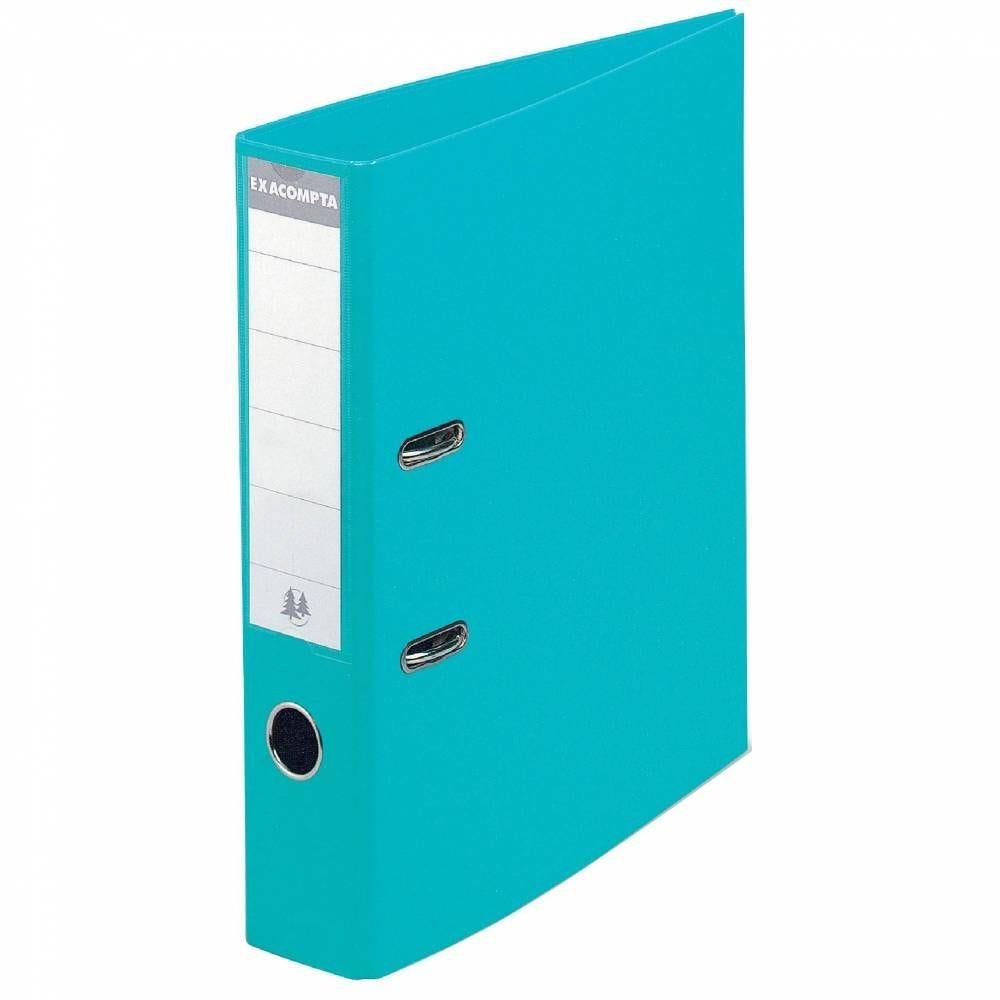 Classeur levier a4 pp turquoise - dos 8 cm (photo)