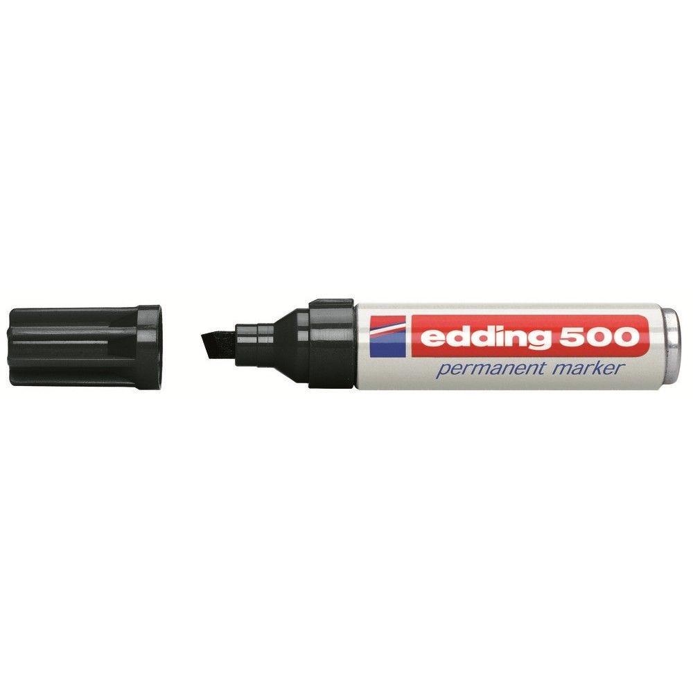 Marqueur permanent noir pointe biseautée e500 2 à 7 mm