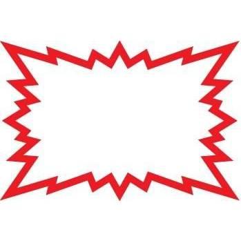 Eclatés 8 x 12 cm blanc liseret rouge - Par 20 (photo)