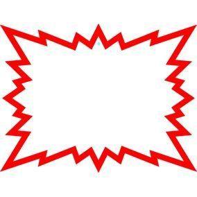 Eclatés 12 x 16 cm blanc liseret rouge - Par 20 (photo)