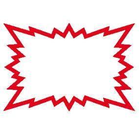 Eclatés 24 x 16 cm blanc liseret rouge - Par 10 (photo)