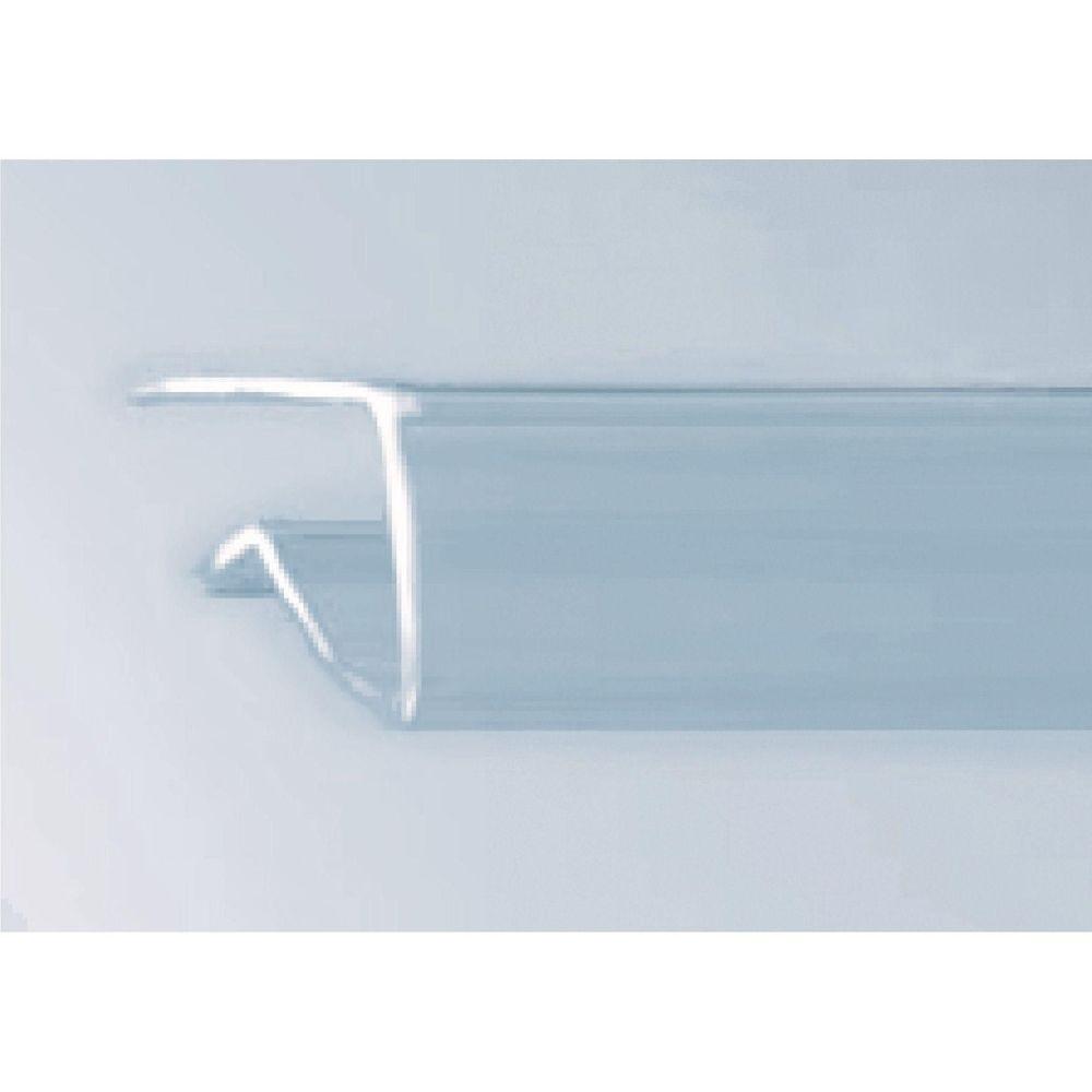 Porte étiquette transparent pour tablette verre 8x1000 mm (photo)