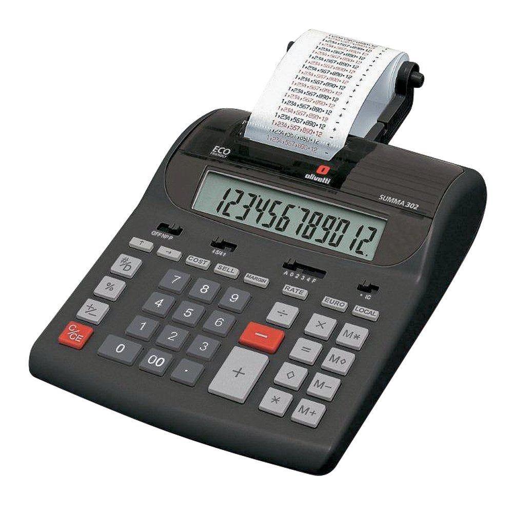 Calculatrice imprimante Olivetti Summa 302 - 12 chiffres