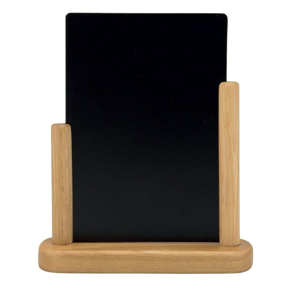 Ardoise de table sur socle bois A5 (photo)