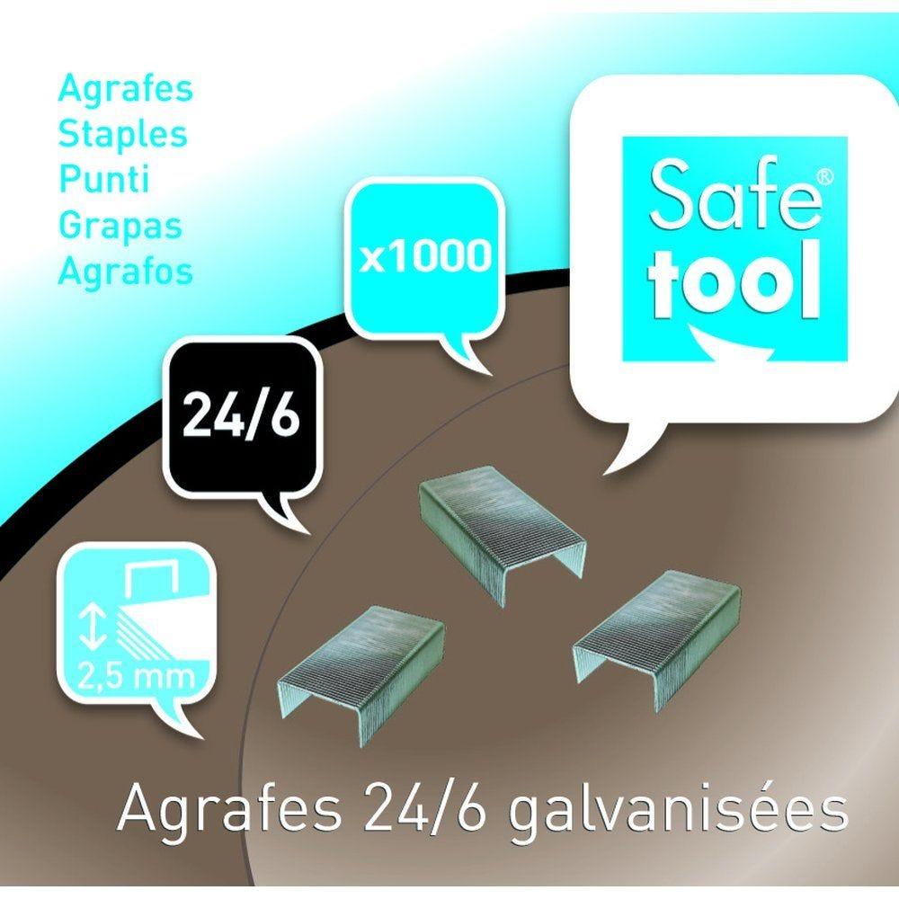 Agrafes 24/6 galvanisées - par 3 x 1000