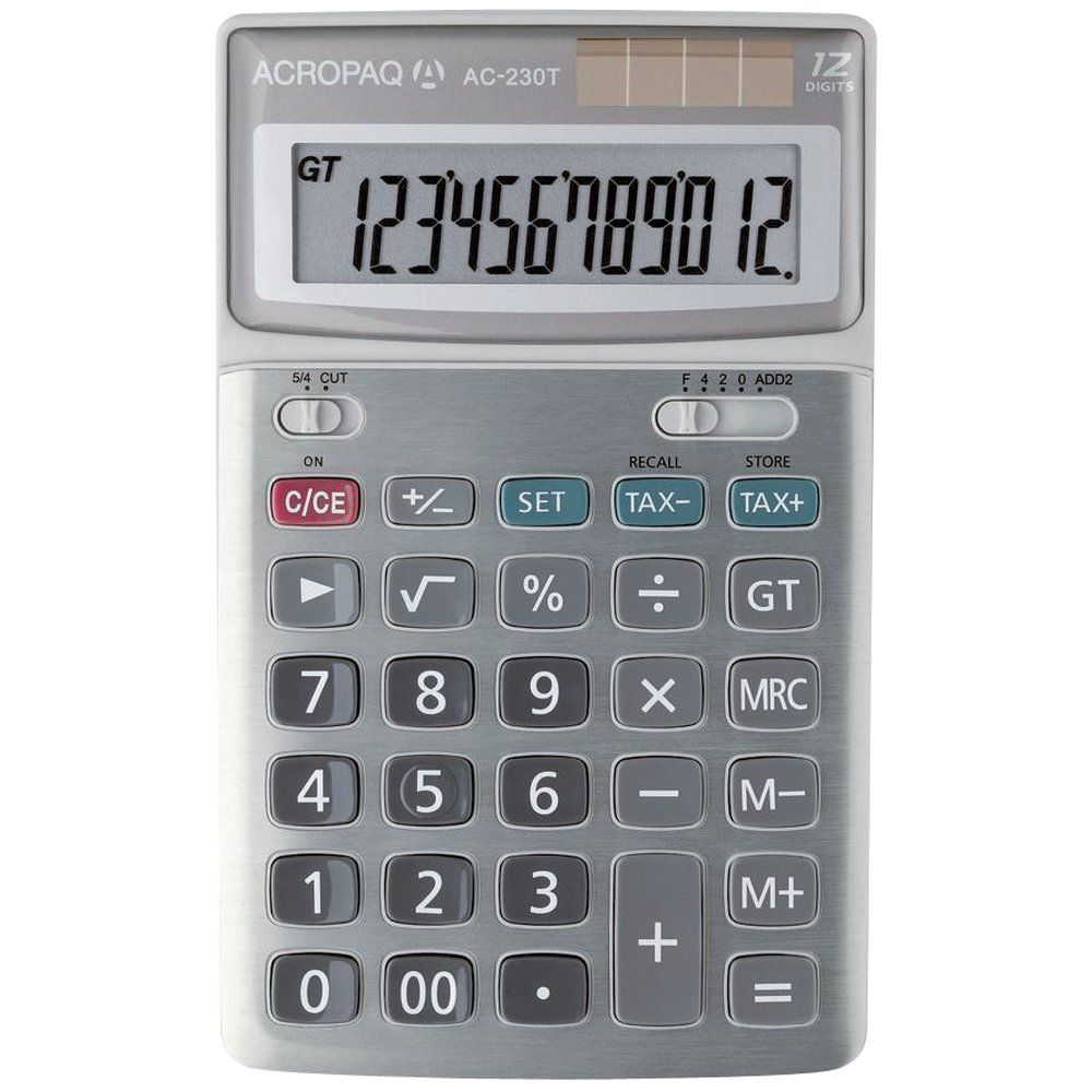 Calculatrice bureau 12 chiffres ac-230 t (photo)