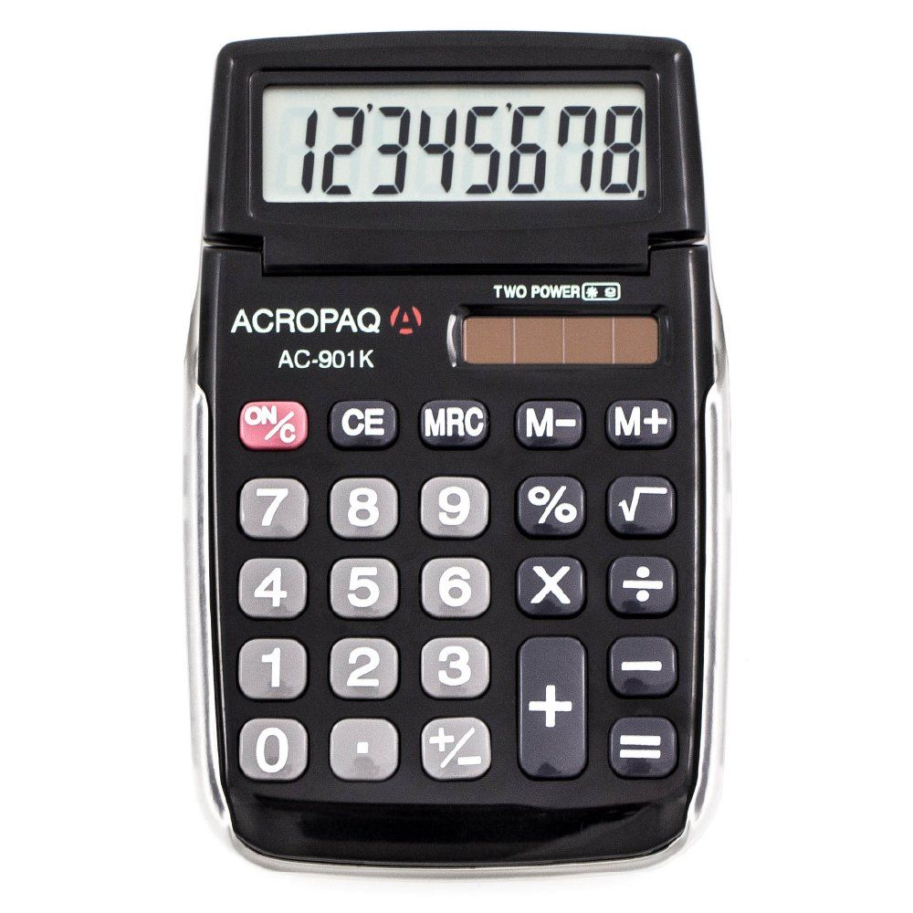 Calculatrice de poche AC-901 - 8 chiffres