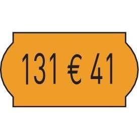 Etiquette 26x12cm fluo orange - par 15000 (photo)