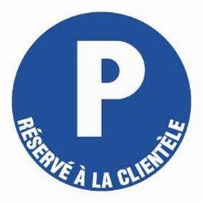 Texte plaque rigide - Parking réservé à la clientèle (photo)