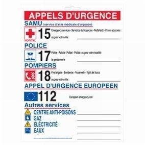 Pictogramme - 23x30 cm - appels d'urgence (photo)