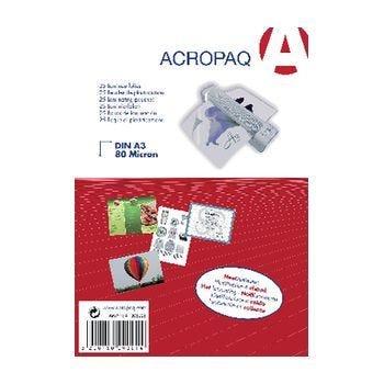 Pochette plastification A4 125 microns x 25 (photo)