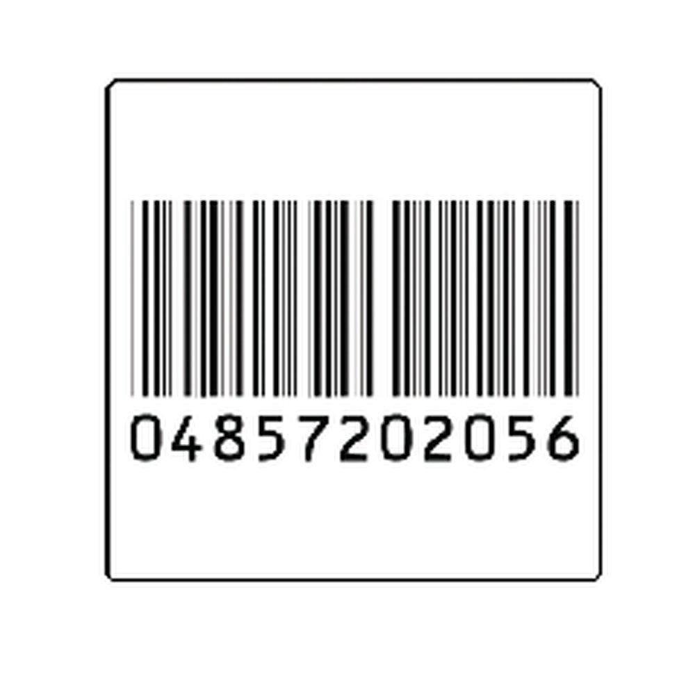 Etiquette faux code barre 4x4cm - par 1000