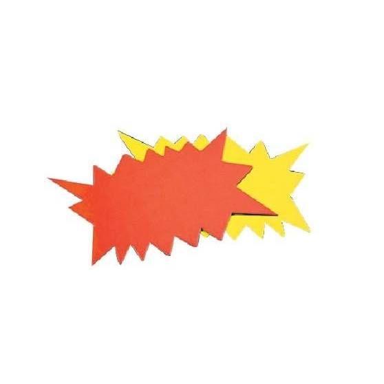 Eclatés fluo effaçage à sec - 8 x 12 cm - Par 100 (photo)