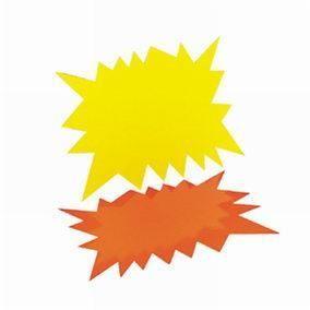 Eclatés fluo effaçage à sec - 16 x 24 cm - Par 30 (photo)