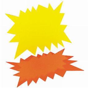 Eclatés fluo effaçage à sec - 24 x 32 cm - Par 30 (photo)