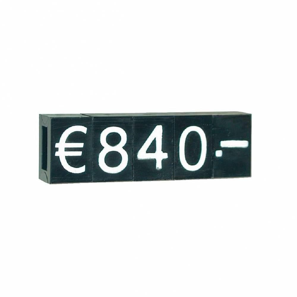 Porte prix noir/blanc H 9 mm (photo)