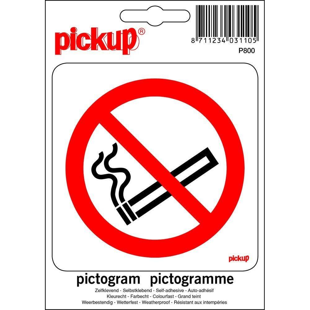 Pictogramme autocollant Interdiction de fumer 10 x 10cm (photo)