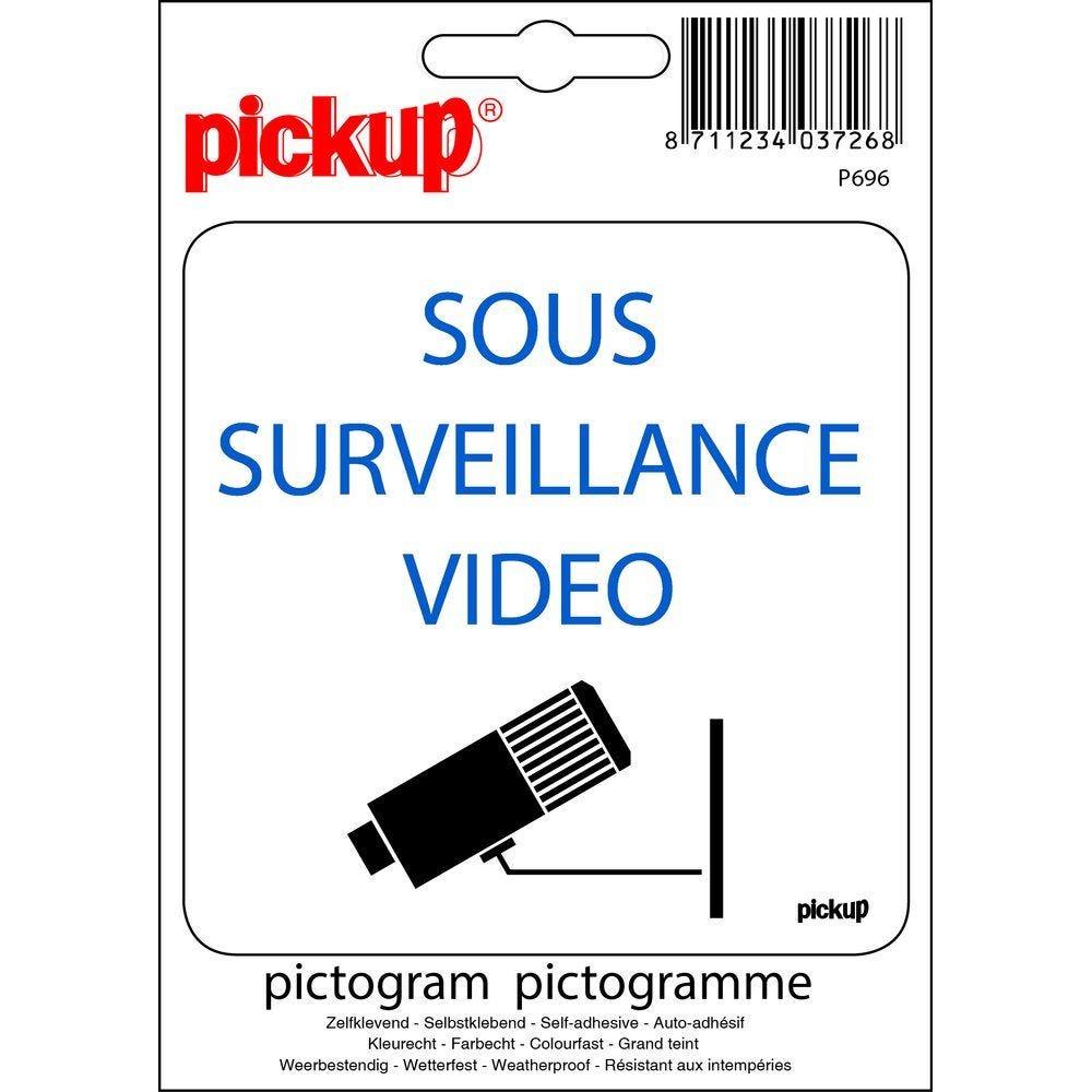 Pictogramme sous surveillance vidéo (photo)
