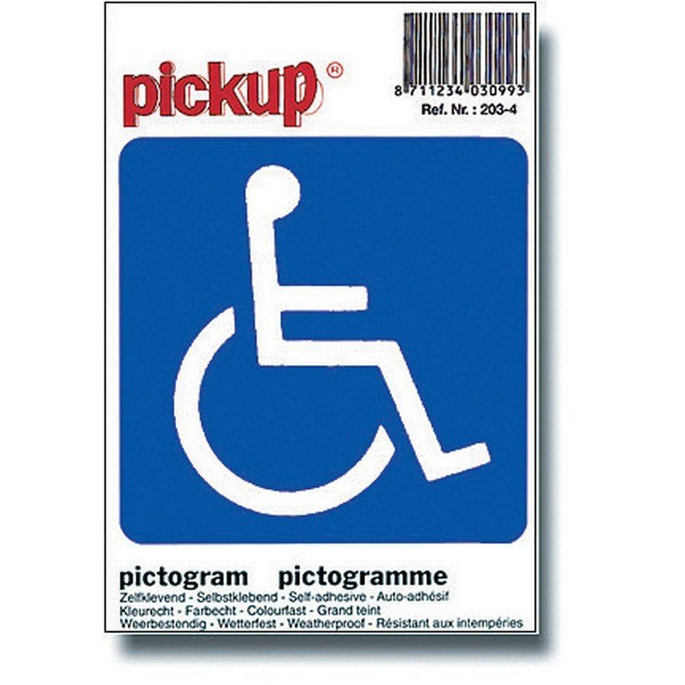 Pictogramme personne à mobilité réduite (photo)
