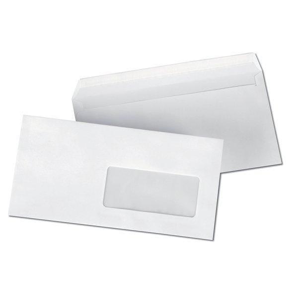 Enveloppe adhésive à fenêtre 110 x 220 mm - par 500 (photo)