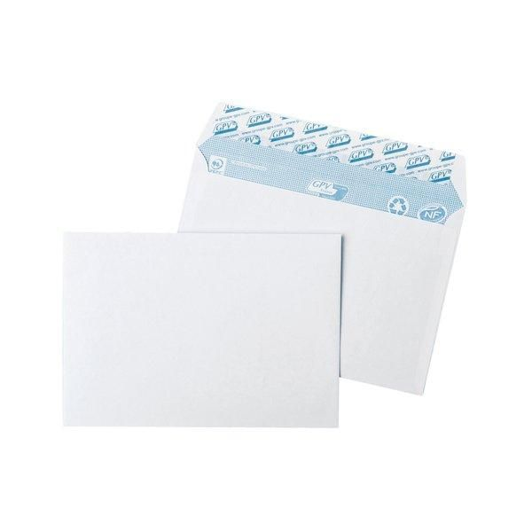 Enveloppe adhésive blanches 80g 162x114mm - par 100