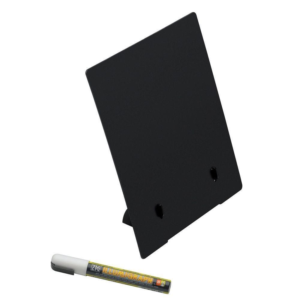 Ardoise chevalet de comptoir A4 - X 5 + marqueur craie (photo)