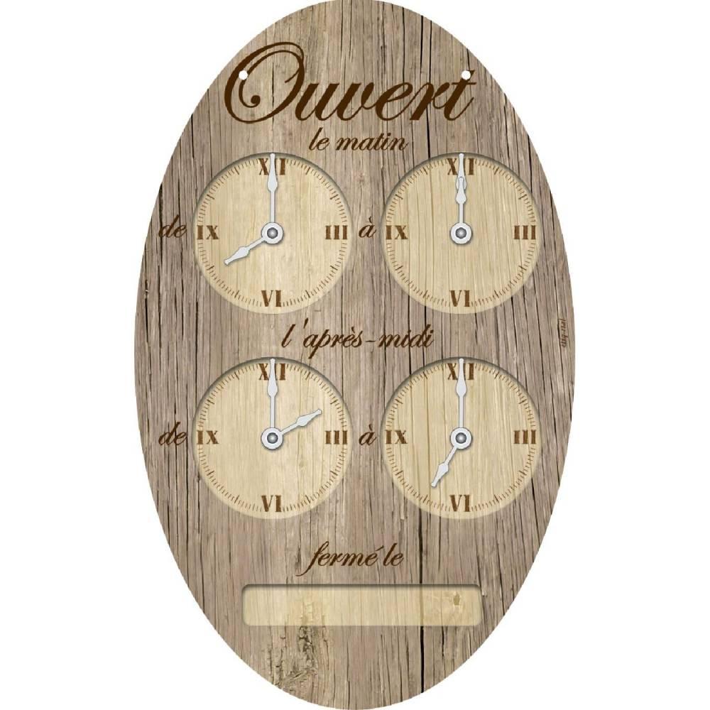 Pendulette ovale - 15 x 24 cm (photo)