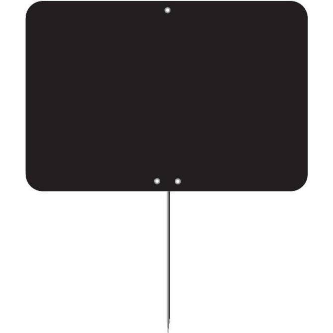 Etiquette ardoise à pique vierge noire 15 x 10 cm par 10 (photo)