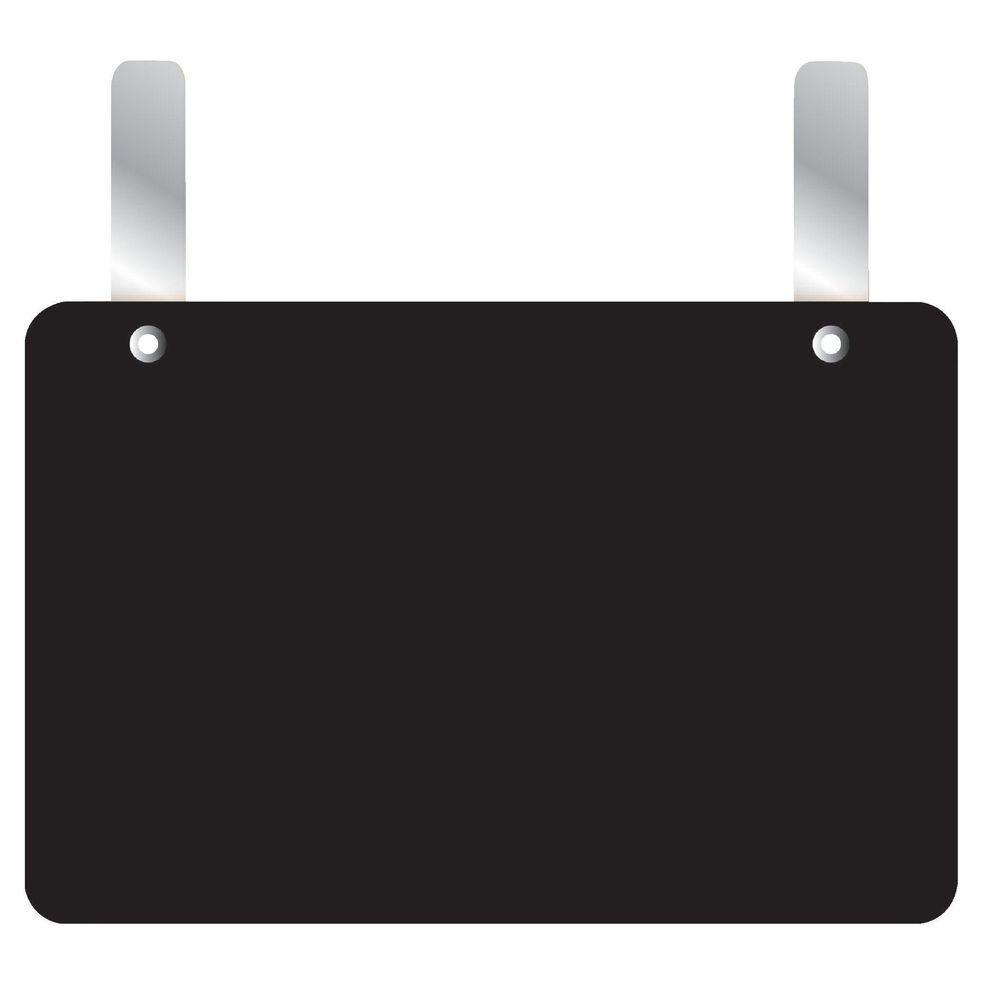 Etiquette ardoise à pattes vierge noire 15 x 20 cm par 10 (photo)