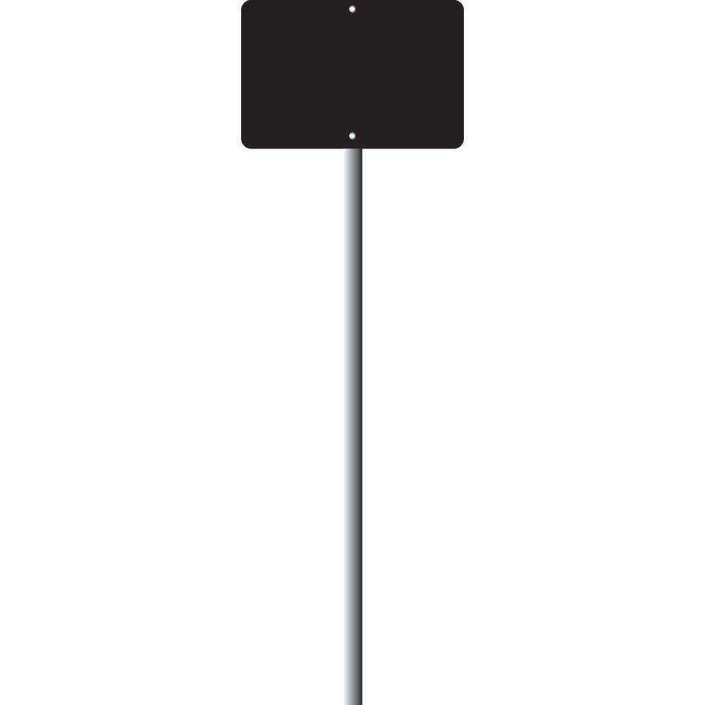 Ardoise neutre 8 x 12 cm avec patte 60 cm - x 10 (photo)
