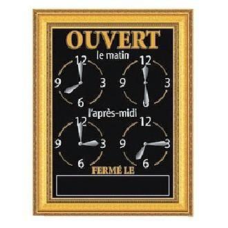 Panneau horaire ornement 15 x 20 cm (photo)