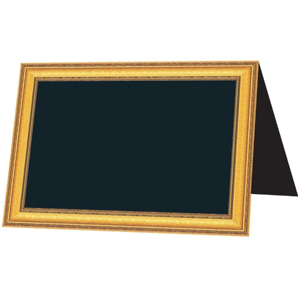 Etiquette chevalet ardoise reversible ornement 7 x 5 cm par 10 (photo)