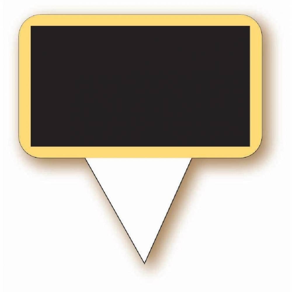 Etiquette Ecolière neutre avec pique 5,5x3cm - par 100