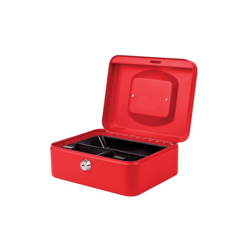 Coffre à monnaie rouge 80 x 200 x 160 mm (photo)