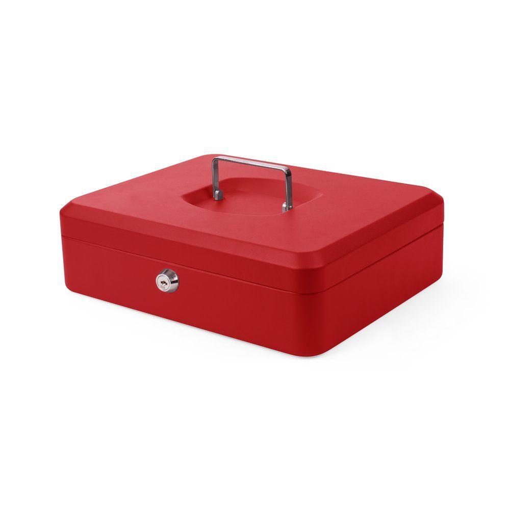 Coffre à monnaie monnaie rouge 90 x 330 x 235 mm (photo)